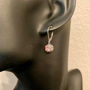 Earrings, pink